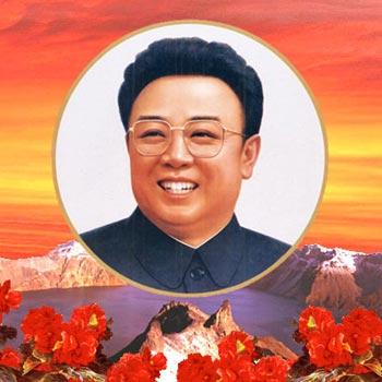 Grandiose painting of Kim Jong-il